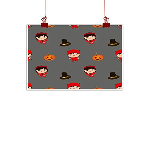 Mannwarehouse Modern Oil Paintings Halloween Pattern Kid Costume Pattern Canvas Wall Art 28