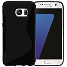 MOONCASE Galaxy S7 Case, S-Line Soft Gel TPU Case Cover for Samsung Galaxy S7 Anti-Slip Flexible Silicone Protective Case Black