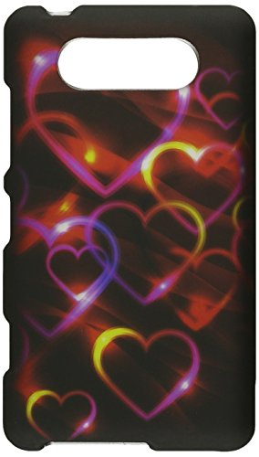 HR Wireless Nokia Lumia 820 Rubberized Protective Cover - Retail Packaging - Colorful ()