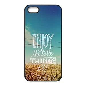 For Iphone 6 Phone Case Cover Enjoy The Little Things Typography Quote Hard Shell Back Black For Iphone 6 Phone Case Cover 331250