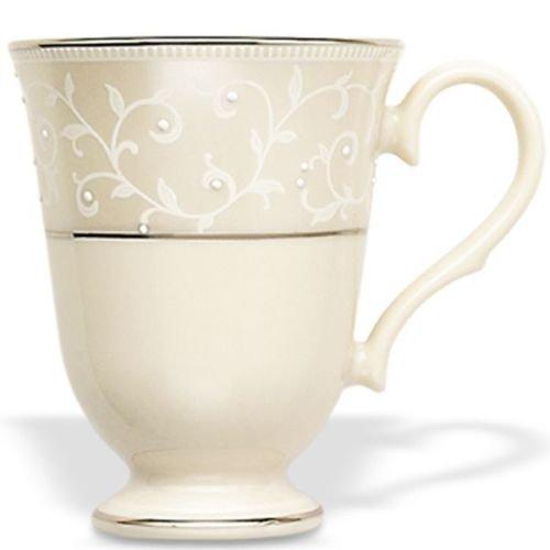 Lenox Pearl Innocence Platinum Banded Ivory China Accent Mug