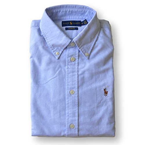 Custom Button Down Shirts (Polo Ralph Lauren Womens Custom Fit Oxford Button Down Shirt (X-Large, Powder Blue))