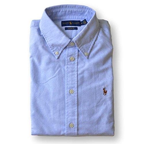 Custom Button Down Shirts (Polo Ralph Lauren Womens Custom Fit Oxford Button Down Shirt (X-Large, Powder Blue))