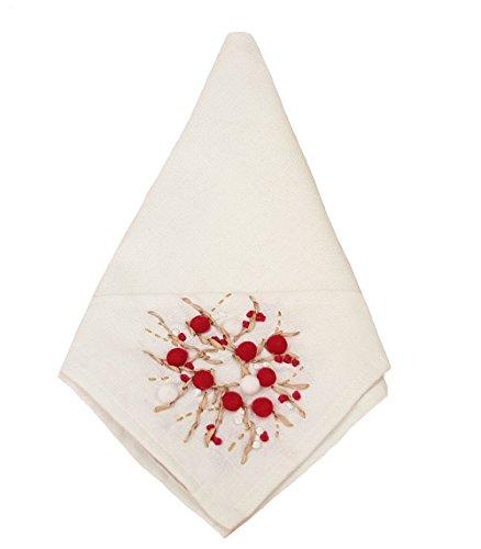 Xia Home Fashions Embroidered Christmas