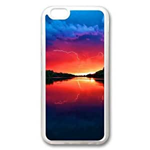 Awesome Lake Sunset Storm Lightning Sakuraelieechyan Transparent Sides Rubber Shell TPU Case for Iphone 6 (4.7 inch) by icecream design