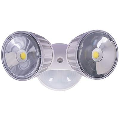 Versonel Bluetooth Outdoor LED Security Motion Sensor Flood Light - White VSLBTLW