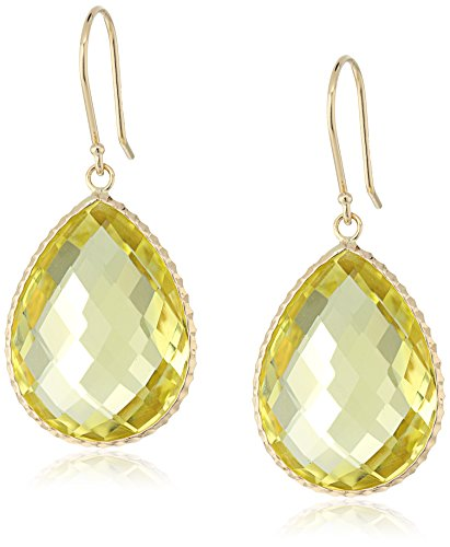 Yellow Gold Detail Dangle Earrings