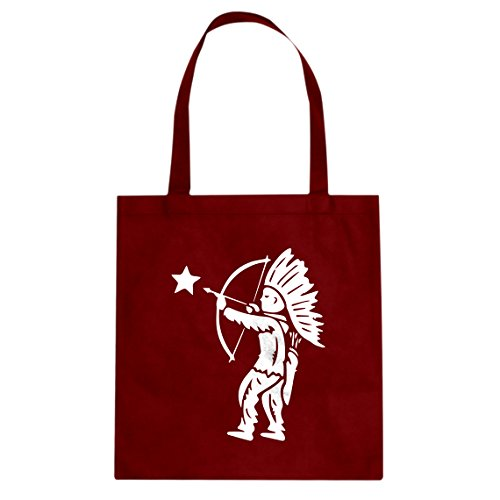 Tote Tootsie Pop Indian Large Red Canvas Bag]()