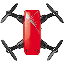 Hot Sales Memela(TM)Mini RC Helicopter Drone 2.4GHz 6-Axis Gyro headless mode Quadcopter brushless Foldable Pocket Drone Good Choice for Drone Training (Red)