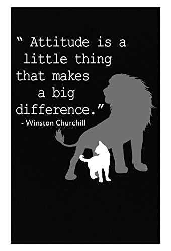 Winston Churchill Inspirational Quote Gift - Poster