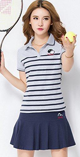 (アイユウガ)I-YUUGA レディース ゴルフウェア 上下 セット ポロシャツ スカート 可愛い スポーツウェア ゴルフ ウェア 全4色 運動着 ジャージセット シンプル 学生 カジュアル
