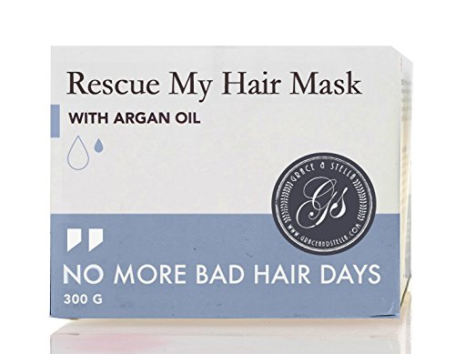 Rescue Deep Conditioner - Rescue My Hair Mask | Intensive Hydrating & Moisturizing Deep Conditioner Hair Treatment for Dry, Damaged Hair with Moroccan Argan Oil & Sunflower Oil | 300g / 10.5oz
