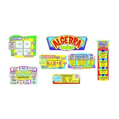 Algebra Basics Bulletin Board Set by Trend Enterprises (Algebra Bulletin Board)