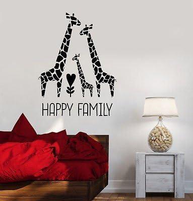 Vinyl Decal Giraffe Family Nursery Childrens Room Decor Wall Stickers VS532