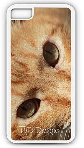iPhone 8 Case Orange Tabby Cat Feline Kitten Tom Customizable by TYD Designs in White Plastic