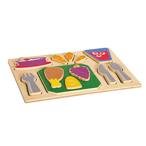ood Tray - Dinner (Guidecraft Wooden Puzzles)