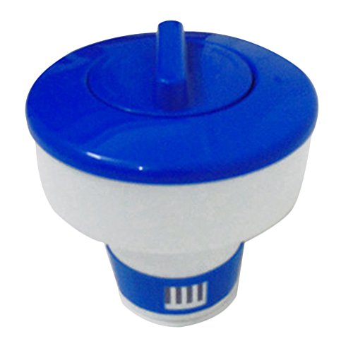 GEZICHTA Swimming Pool and Spa Floating Chemical Dispenser, 5Inch/8Inch Afloat Disinfect Pill Case Chlorine Dispenser for Indoor & Outdoor Swimming Pools(8INCH) by GEZICHTA