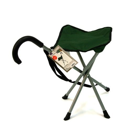 Folding Cane Chair Walking Stick With Stool Buy Online