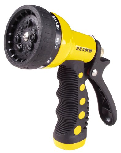 Dramm 12703 9-Pattern Revolver Spray Nozzle, Yellow