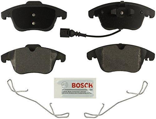 (Bosch BE1375H Blue Disc Brake Pad Set with Hardware For: Audi Q3, Q3 Quattro; Ford Mondeo; Volkswagen Passat, Tiguan, Front)