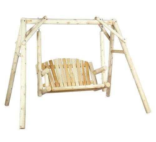 Cedarlooks 0700027 Log 5-Feet American Garden Swing with Stand (Log American Garden Swing)