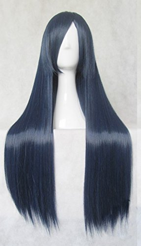 Japanese Anime Inu × Boku Secret Service Shirakiin Ririchiyo 80cm + Wigs Cap (80cm, Black Blue)