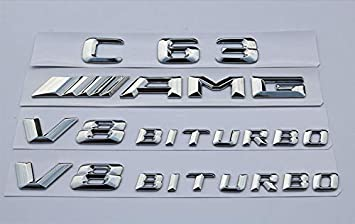 6.3 AMG Letters Trunk Embl Badge Sticker for 2018 Mercedes Benz 4x E63 AMG