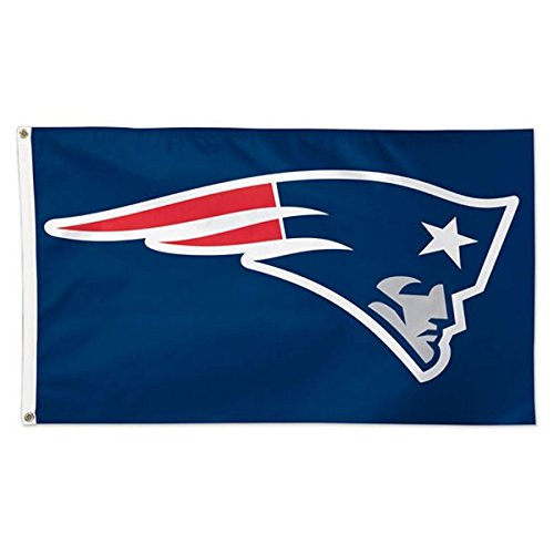 Wincraft NFL New England Patriots Deluxe Flag, 3' x -