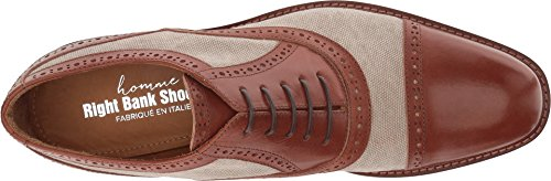 Right Bank Shoe Co¿ Hombre Indy Vachetta / Canvas Oxford Beige