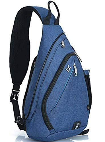 Mixi Sling Bag, Water Resistant One Shoulder Backpack Chest Pack Crossbody Bags Women&Men Fanny Pack
