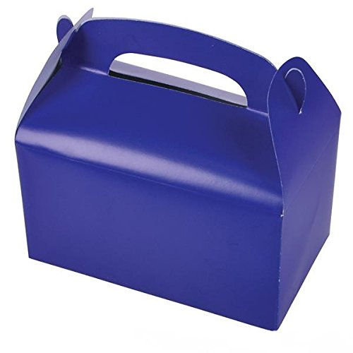 Blue Favor Boxes - Blue Party Treat Boxes (Pack of 12)