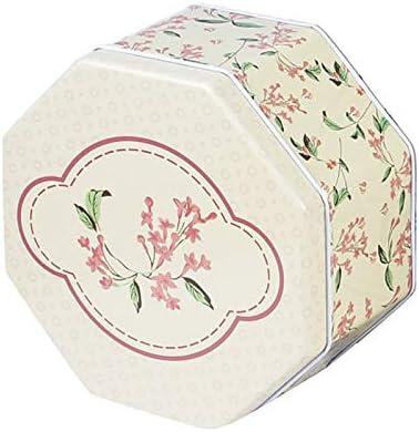Godlife Mini Caja de Almacenamiento Caja de Embalaje Grande de la hojalata de la Caja de Regalo del Chocolate de la Galleta de Caramelo Octagonal (Flor) Tarro de té: Amazon.es: Hogar