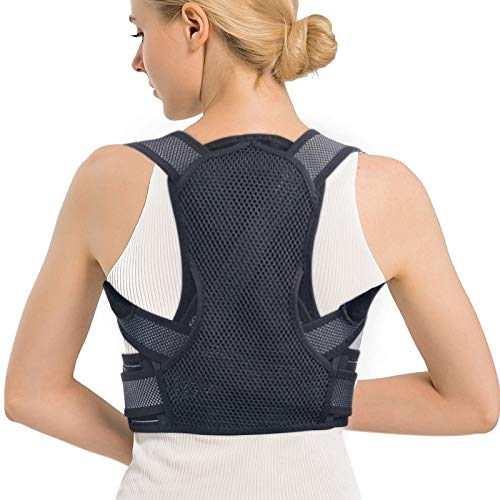 Posture Corrector for Men and Women,Upper [Back Brace] Straightener with Adjustable Breathable Clavicle Support Effective for Neck, Back and Shoulder Pain Relief Lumbar Support(Unisex)
