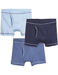Boys' Boxer Briefs Underwear 100% Cotton 3-Pack Made in The USA