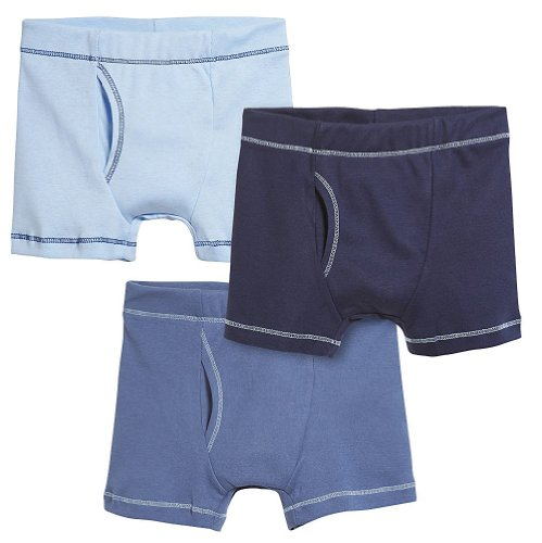 City Threads Boys' Boxer Briefs Underwear 100% Cotton 3-Pack MADE IN THE USA