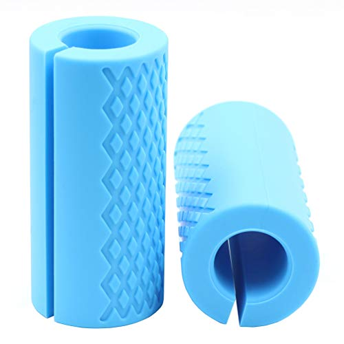 - Strainho Pair of Barbell Grips, Anti-Slip Rubber Grips, Thick Bar Adapter Muscel Builder, Fat Grips for Muscle Growth, Fir for Barbell & Dumbbell Training(Blue)