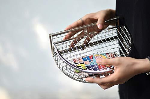 personalità metallo Unico tracolla borsa Argento frizione design sera Pnizun partito borsa gabbie signore della borse tracolla borsa di fashion cava Argento a Il della delle del a Nuovo 05dZZqn