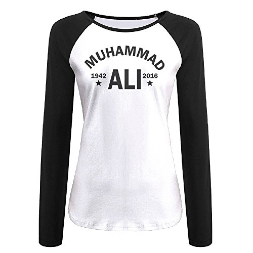 Women's Muhammad Ali Greatest Boxer 1942-2016 Long Sleeve Raglan Baseball Tee