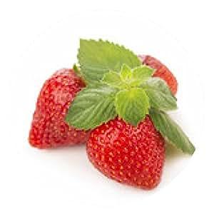 alfombrilla de ratón De fresas frescas, hojas de menta aislados sobre fondo blanco - ronda - 20cm