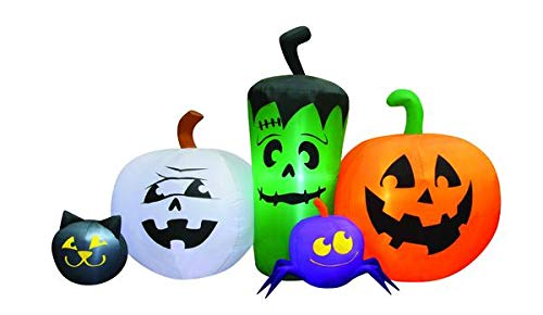 Occasions 6' Inflatable Monster Pumpkin Patch Halloween -