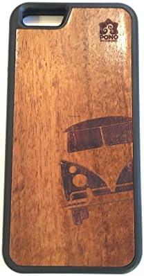 iPhone 8 / 7 ケース 【 Pono Woodworks 】 ハワイアン コアウッド × TPU ハイブリッド スリム ケース Made with Aloha in the USA 【 VW Split Window Bus 】
