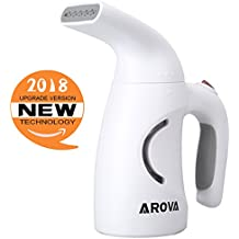 Arova Clothes Handheld Steamer 140ML Portable Garment Steamer, 2 Min Heat-up Premium Fabric Steam Cleaner, Safe, Lightweight and Perfect Clothing Steamer for Travel Home