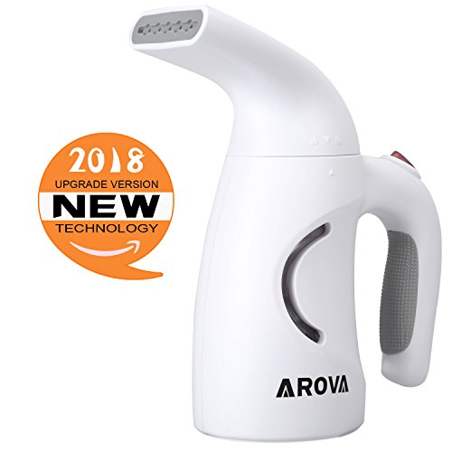 Arova Clothes Handheld Steamer 140ML Portable Garment Steamer, 2 Min Heat-up Premium Fabric Steam Cleaner, Safe, Lightweight and Perfect Clothing Steamer for Travel Home (Premium Steamers)