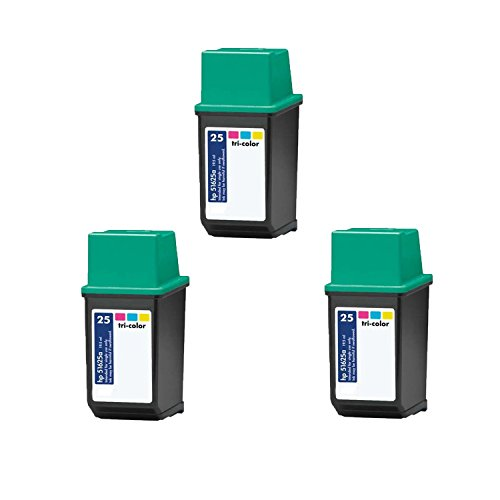 HP 25 (51625A) Compatible Tri-Color Ink Cartridge-3 Pack