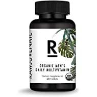 Amazon Brand - Rawjuvenate USDA Organic Multivitamin for Men- Highest Digestibility & Absorption, 60Count