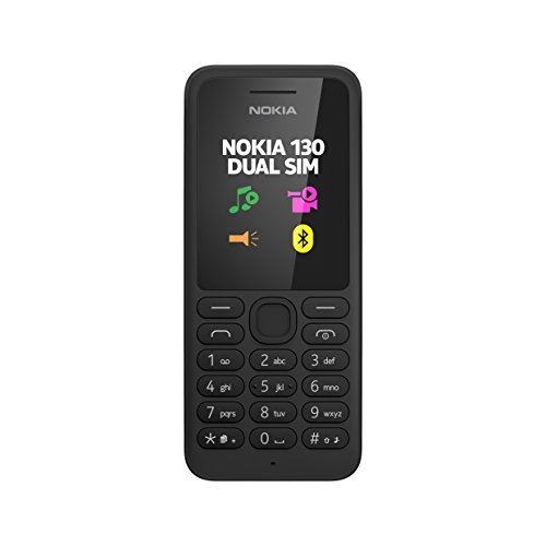 Nokia 130 Dual Sim Mobile Phone - Black no warranty