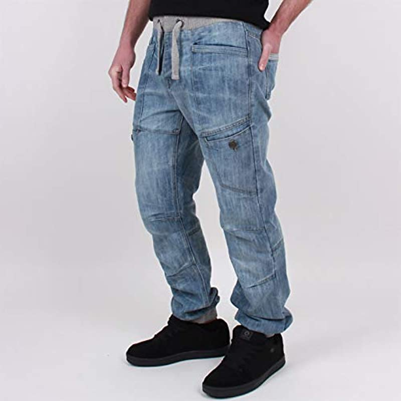 No Fear męskie spodnie do biegania, z szelkami, ze ściągaczem: Odzież