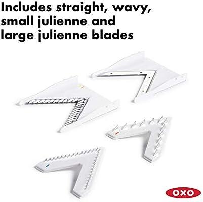 OXO 1155700 Good Grips V-Blade Mandoline Slicer, Set of 1, White