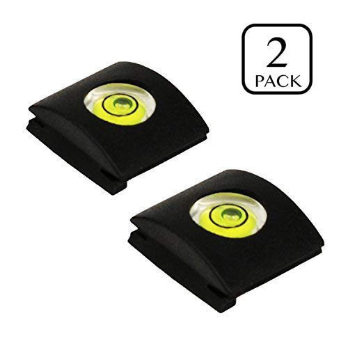 VONOTO 2PCS Camera Flashlight Hot Shoe hotshoe cover with bubble Spirit Level for Canon Nikon Panasonic Fujifilm Olympus Pentax Sigma DSLR/SLR/EVIL ()