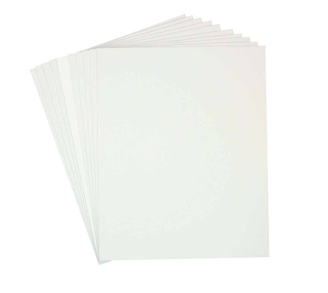 Golden State Art, Pack of 10, 1/8'' Thick, 20x24 White Foam Core Backing Boards (20x24, White)